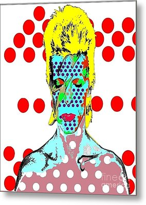 Bowie Metal Print by Ricky Sencion