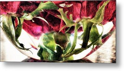 Bowl Of Roses Metal Print by Stelios Kleanthous