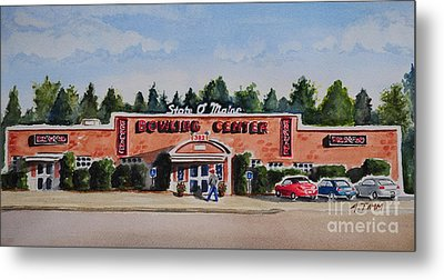 Bowling Center Metal Print by Andrea Timm