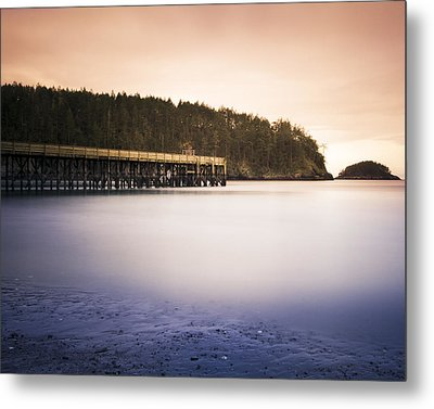 Bowman Bay Sunset Metal Print by Tony Locke