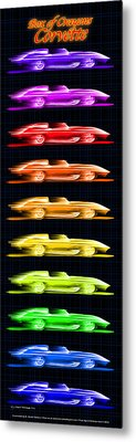 Metal Print featuring the drawing 1959 Stingray Box Of Crayons by K Scott Teeters