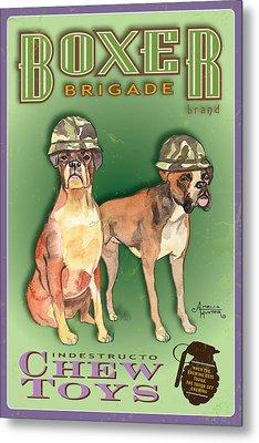 Boxer Brigade Chew Toys Metal Print by Amelia Hunter