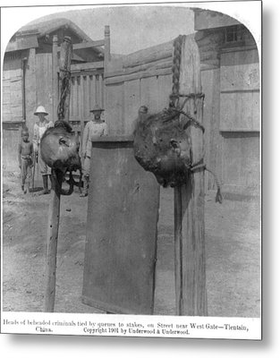 Boxer Rebellion, Heads Of Beheaded Metal Print by Everett