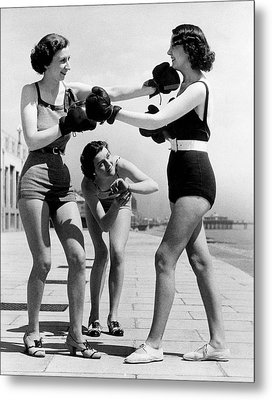 Boxing On The Prom Metal Print by William Vanderson