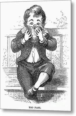 Boy Eating Metal Print by Granger