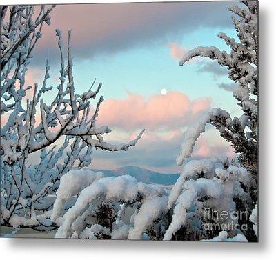 Boyd Lake Winter Sunrise Metal Print by Harry Strharsky