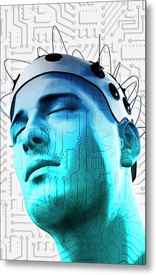 Brain Circuit Metal Print by MedicalRF.com