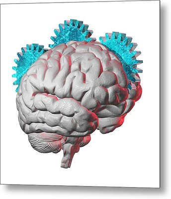 Brain Function, Conceptual Artwork Metal Print by Laguna Design