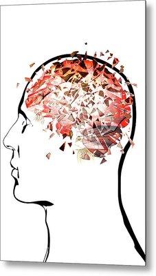 Brain Shattering Metal Print