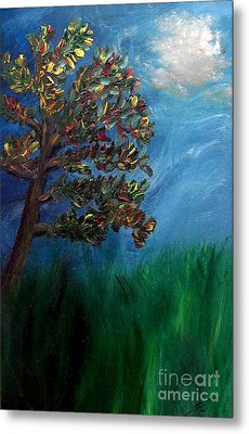 Metal Print featuring the painting Branched Impressions by Ayasha Loya