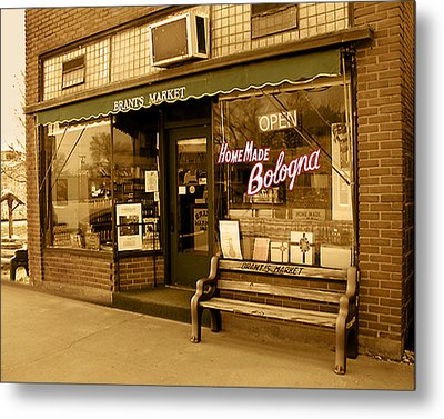 Metal Print featuring the photograph Brant's Market by Steve Sperry