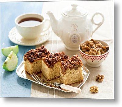 Breakfast With Nut Cake Metal Print by Verdina Anna