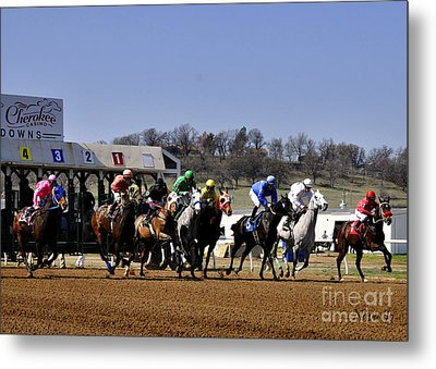 Metal Print featuring the photograph Breaking From The Gate by Nava Thompson