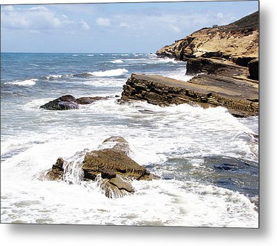 Breakwaters At Point Loma Metal Print