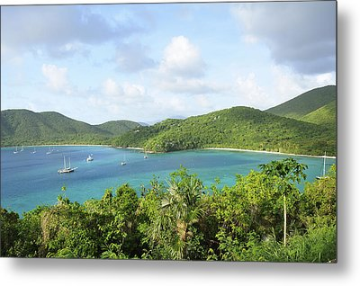 Breath-taking View Of Maho Bay, St John Metal Print by Driendl Group