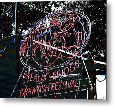 Breaux Bridge Crawfish Festival Metal Print