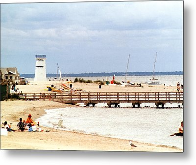 Metal Print featuring the photograph Breezy Point Bayside Frosted Glass by Maureen E Ritter