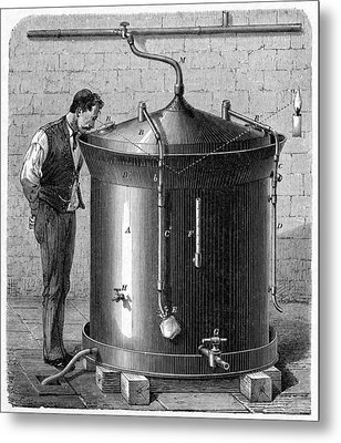 Brewery Vat, 19th Century Metal Print by Cci Archives