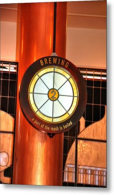 Brewing Metal Print by Barry R Jones Jr