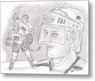 Brian Propp Metal Print by Chris  DelVecchio