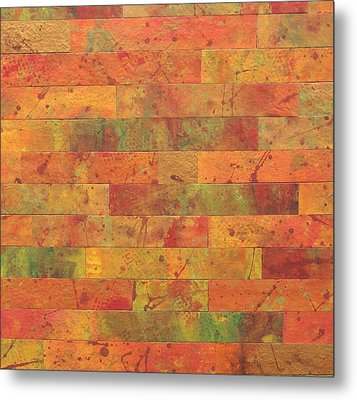 Brick Orange Metal Print by Kathy Sheeran