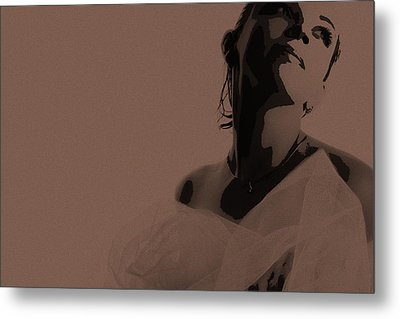 Bride Metal Print by Naxart Studio