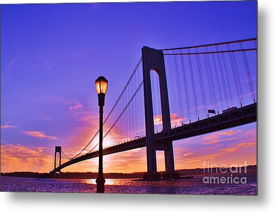 Bridge At Sunset 2 Metal Print by Artie Wallace
