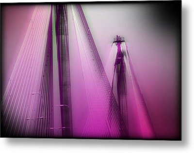 Bridge Cables One Metal Print by Marty Koch