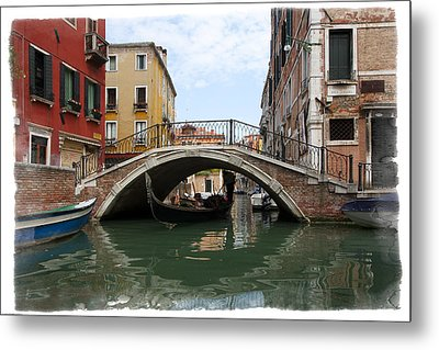 Bridge Over Gondola Metal Print