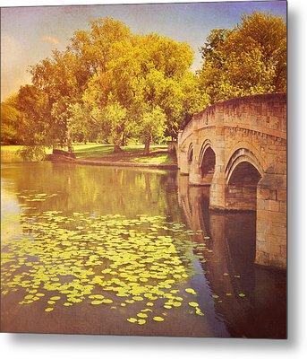 Bridge Over River Metal Print by Photo - Lyn Randle