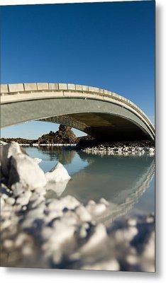 Bridge Over The Blue Lagoon Metal Print