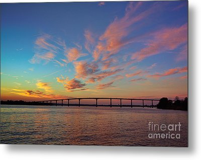 Bridge Over The Patuxent Metal Print by Susan Isakson