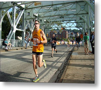 Metal Print featuring the photograph Bridge Runner by Alice Gipson