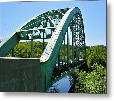 Metal Print featuring the photograph Bridge Spanning Connecticut River by Sherman Perry
