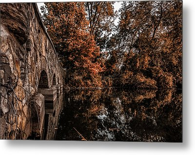 Metal Print featuring the photograph Bridge To Autumn by Tom Gort