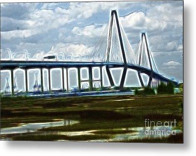 Bridge To Charleston Metal Print by Darleen Stry