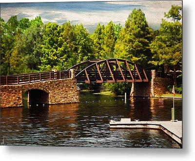 Bridge To Get Away Metal Print by Lourry Legarde