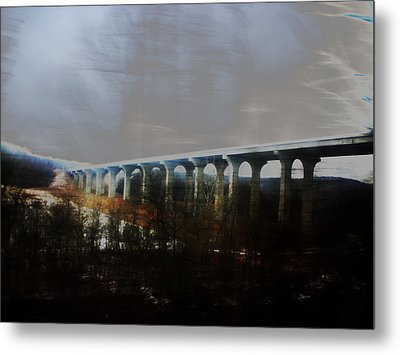 Bridge To The Past Metal Print by Rosvin Des Bouillons
