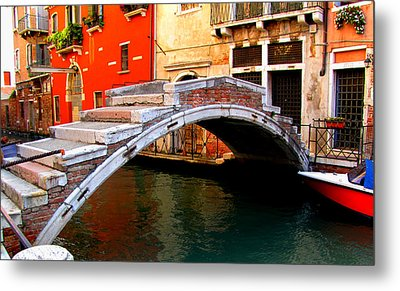 Metal Print featuring the photograph Bridge Without Railings by Barbara Walsh