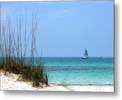 Metal Print featuring the photograph Bright Blue by Ginny Schmidt