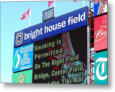 Bright House Field Metal Print by Carol Christopher