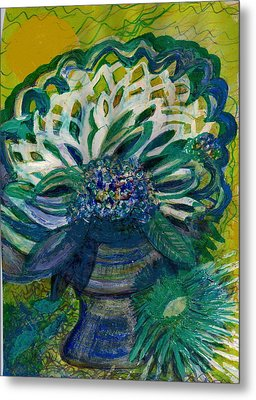 Brightness Bouquet From My Imagination Metal Print by Anne-Elizabeth Whiteway
