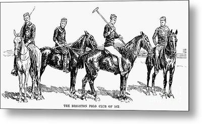 Brighton Polo Club, 1877 Metal Print by Granger