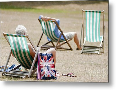 British Deck Chairs Metal Print by Andrew  Michael