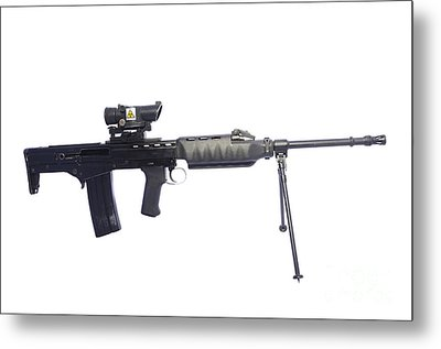 British Prototype 4.56mm Light Support Metal Print by Andrew Chittock