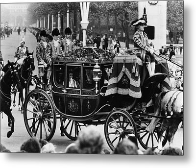 British Royalty. In Carriage, From Left Metal Print by Everett
