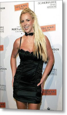 Britney Spears At Arrivals Metal Print by Everett