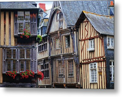 Metal Print featuring the photograph Brittany Buildings by Dave Mills
