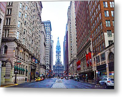 Broad Street Avenue Of The Arts Metal Print by Bill Cannon