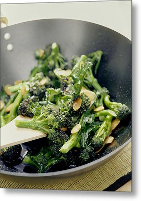 Broccoli Stir Fry Metal Print by David Munns